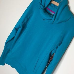 Zella Tops - Zella Inner Peace teal cowl tunic sweatshirt XS